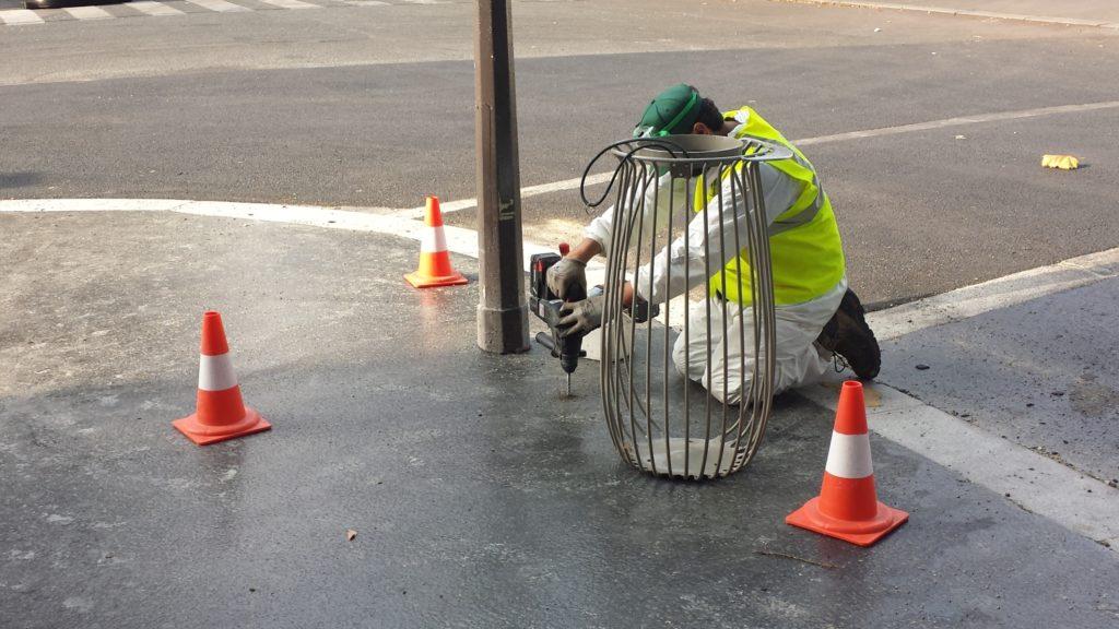 Korrigan installe des réceptacles de propreté à Paris