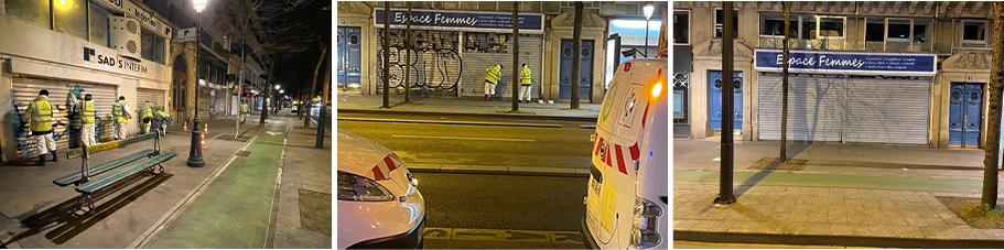 KORRIGAN nettoie le boulevard MAGENTA